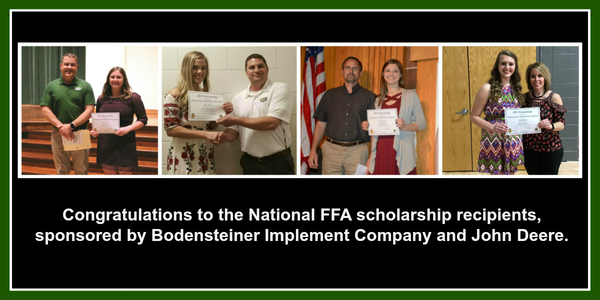 2018 FFA Scholarship Recipients